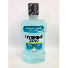 ENJUAGUE BUCAL LISTERINE ZERO SABOR SUAVE 500ML.