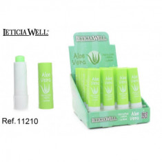 PROTECTOR LABIAL LETICIA WELL CON ALOE VERA (0.45 UNIDAD) PACK 24