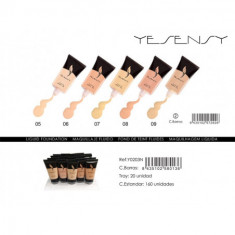 MAQUILLAJE FLUIDO YESENSY 4 COLORES 30ML.(0.60€ UNIDAD)PACK 20  YESENSY