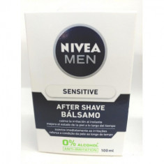 AFTER SHAVE SENSITIVE NIVEA MEN 0% ALCOHOL* ANTI-IRRITACION 100ML.