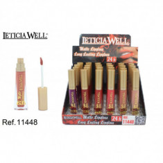 LIPGLOSS MATTE LONG LASTING 24H. 6 COLORES (0.65€'¬ UNIDAD)PACK 24  LETICIA WELL