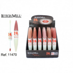 LIPGLOSS DOBLE COLOR FIJO + SUPER BRILLO 24H (0.75€'¬ UNIDAD) PACK 24  LETICIA WELL