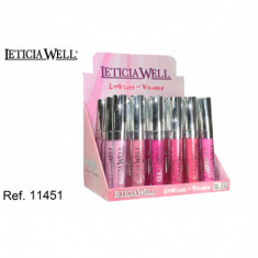 LIP GLOSS VOLUMEN 6 COLORES (UNIDAD 0.55€'¬)PACK 24 LETICIA WELL