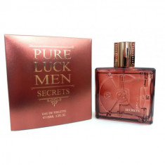 EAU DE TOILETTE  PURE LUCK MEN SECRETS  POUR HOMME 100ML.  LINN YOUNG