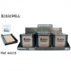 POLVO COMPACTO MATTE  3 COLORES  10GR. (0.75€'¬ UNIDAD) PACK 15  LETICIA WELL