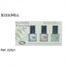SET MANICURA FRANCESA GAMA NUDE  FAST DRY (1.15€'¬ PAQUETE)PACK 12 PAQUETES  LETICIA WELL