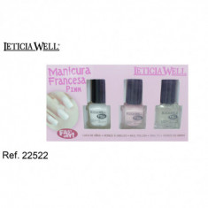 SET MANICURA FRANCESA GAMA PINK  FAST DRY (1.15€'¬ PAQUETE)PACK 12 PAQUETES  LETICIA WELL