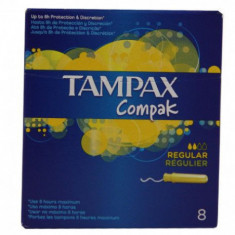 TAMPON  REGULAR  COMPACK  8 UNIDADES PAQUETE  TAMPAX