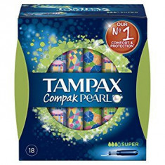 TAMPON  SUPER  COMPACK PEARL  18 UNIDADES PAQUETE  TAMPAX