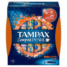 TAMPON  SUPER PLUS  COMPACK PEARL  18 UNIDADES PAQUETE  TAMPAX