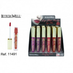 LIPGLOSS MATTE FIJO 24H. 6 COLORES HD (0.65€'¬ UNIDAD) PACK 24  LETICIA WELL