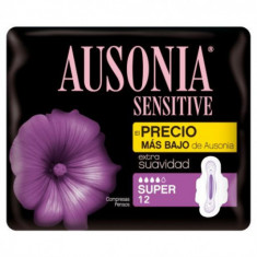 COMPRESA  SUPER  SENSITIVE  12 UNIDADES PAQUETE  AUSONIA