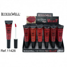 LIPGLOSS FIJO  VELVET  6 COLORES (0.65€'¬ UNIDAD) PACK 24  LETICIA WELL