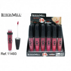 LIPGLOSS COLOR INTENSO 24H. 6 COLORES(0.65€'¬ UNIDAD) PACK 24  LETICIA WELL