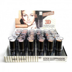 STICK ILUMINADOR FACIAL  6 COLORES  3D. (1.10€'¬ UNIDAD) PACK 24  EASY PARIS