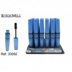 MASCARA DE PESTAÑAS  MEGA LAST EXTENSION (0.68€'¬ UNIDAD) PACK 24  LETICIA WELL