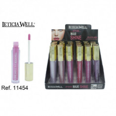 LIPGLOSS MAXI SHINE  6 COLORES (0.55€'¬ UNIDAD) PACK 24  LETICIA WELL