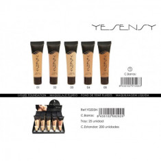 MAQUILLAJE FLUIDO  4 COLORES  35ML. (0.65€'¬ UNIDAD) PACK 25  YESENSY