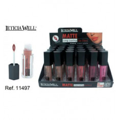LIPGLOSS  MATTE 6 COLORES (0.75€'¬ UNIDAD) PACK 24  LETICIA WELL