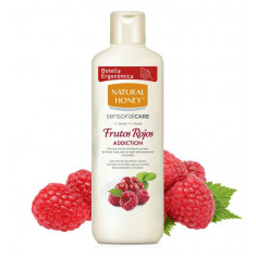 GEL DE BAÑO Y DUCHA  FRUTOS ROJOS  650ML.  NATURAL HONEY