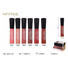 LIPGLOSS  LONG LASTING 24H. 6 COLORES (0.75€ UNIDAD) PACK 24  WYNIE