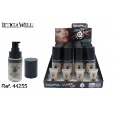 BASE DE MAQUILLAJE 12H. 4 COLORES(1.25€ UNIDAD) PACK 16 LETICIA WELL