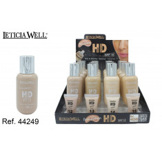 BASE DE MAQUILLAJE  HD  4 COLORES(1.19€ UNIDAD) PACK 16 LETICIA WELL