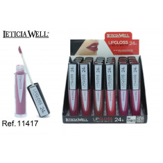 LIPGLOSS MATTE 24H. 6 COLORES (0.69€ UNIDAD) PACK 24 LETICIA WELL