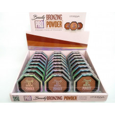 POLVO COMPACTO BRONZING PRO BEAUTY(0.75€ UNIDAD) PACK 24  D'DONNA