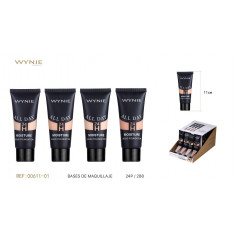 MAQUILLAJE FLUIDO 4 COLORES 40ML.(0.75€ UNIDAD) PACK 24  WYNIE