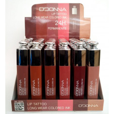 BARRA DE LABIOS LIQUIDA LIP TATTOO 24H.(0.59€ UNIDAD) PACK 24  D'DONNA