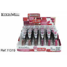 BARRA DE LABIOS  LIP COLOR (0.50€ UNIDAD) PACK 24 LETICIA WELL