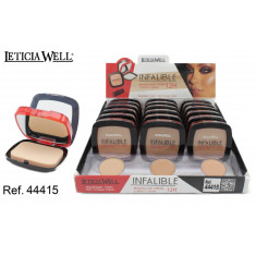 MAQUILLAJE EN CREMA INFALIBLE  12H.(0.89€ UNIDAD) PACK 18  LETICIA WELL